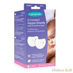 Lansinoh Kontakt bimbóvédő védőtokkal, szilikon - 2db