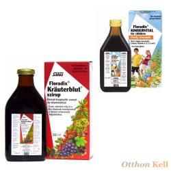 Salus Kräuterblut 500 ml + Floradix Kindervital 250 ml csomag
