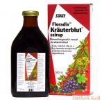 Salus Floradix Kräuterblut szirup vassal és vitaminokkal 500 ml